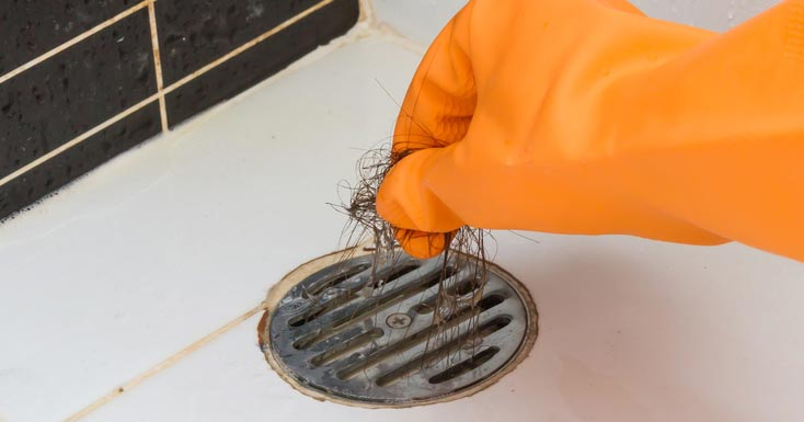 How to clear a shower drain - remove hair